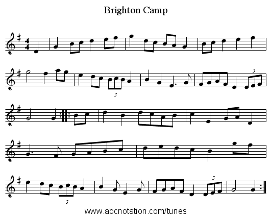 Brighton Camp - staff notation