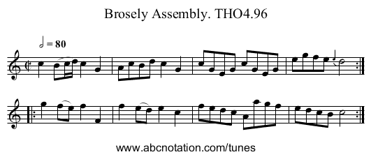 Brosely Assembly. THO4.96 - staff notation