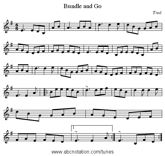 Bundle and Go - staff notation