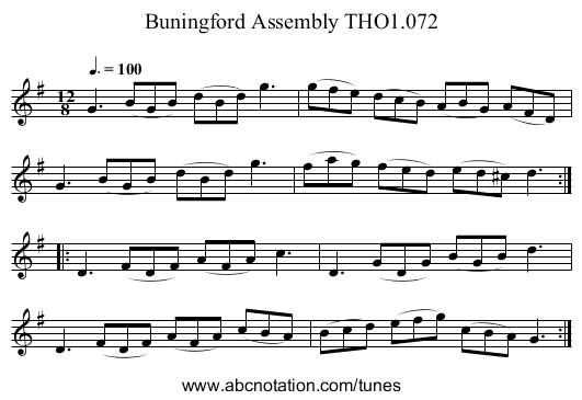 Buningford Assembly THO1.072 - staff notation