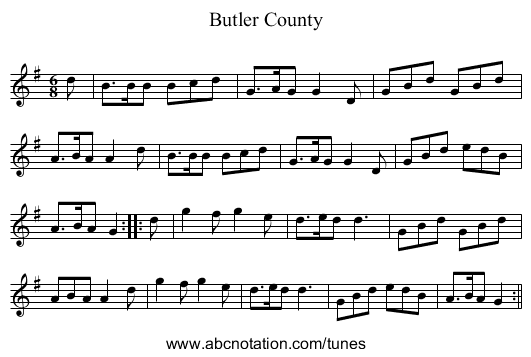 Butler County - staff notation