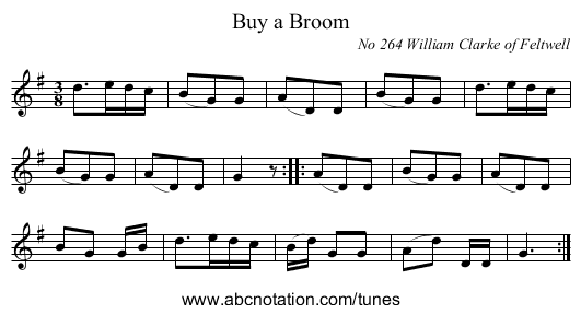 Buy a Broom - staff notation