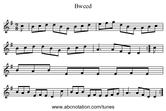 Bwced - staff notation