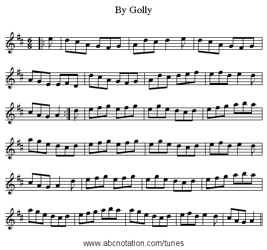 By Golly - staff notation