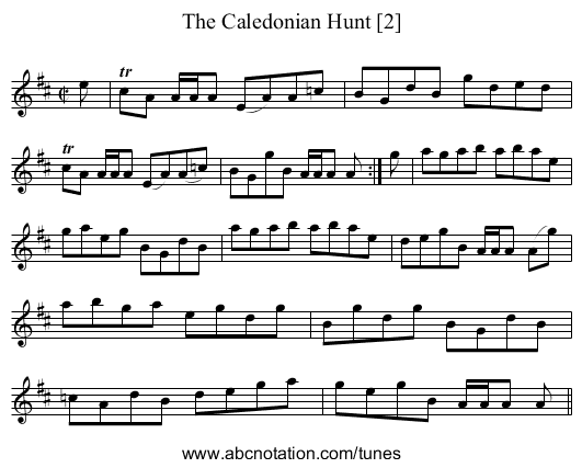 Caledonian Hunt [2], The - staff notation
