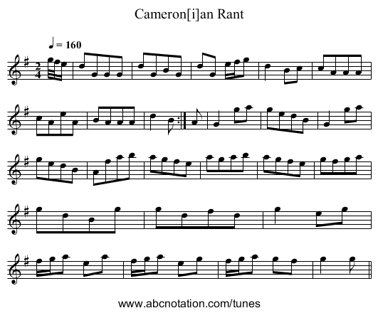 Cameron[i]an Rant - staff notation