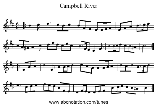 Campbell River - staff notation