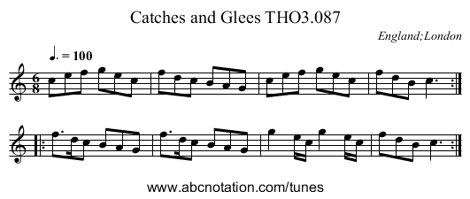 Catches and Glees THO3.087 - staff notation