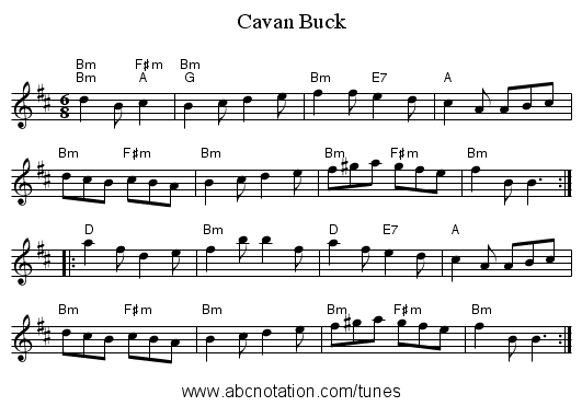 Cavan Buck - staff notation