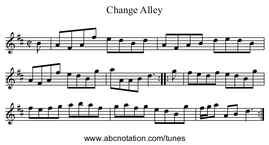 Change Alley - staff notation