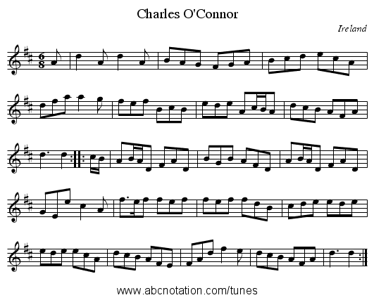 Charles O'Connor - staff notation