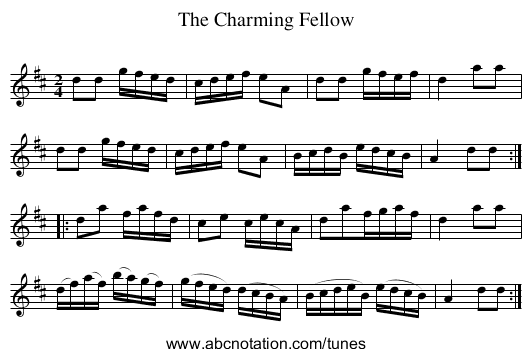 Charming Fellow, The - staff notation