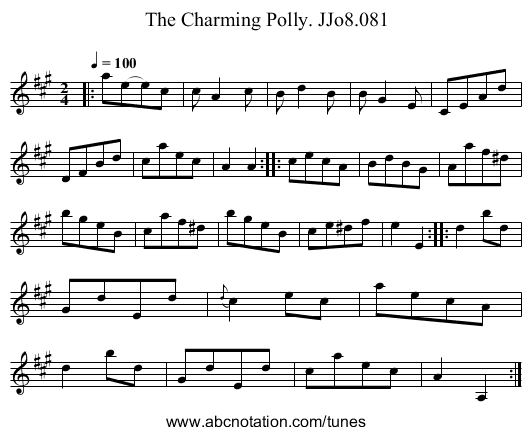 Charming Polly. JJo8.081, The - staff notation