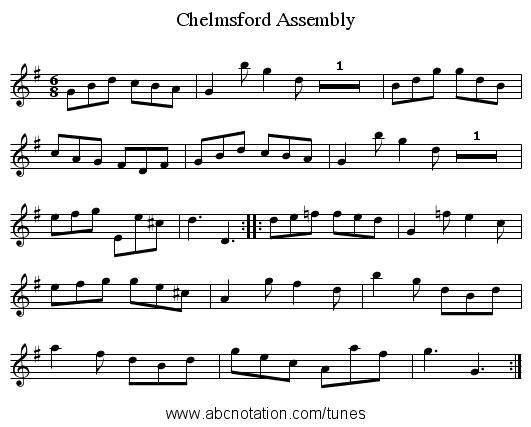 Chelmsford Assembly - staff notation