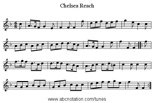 Chelsea Reach - staff notation
