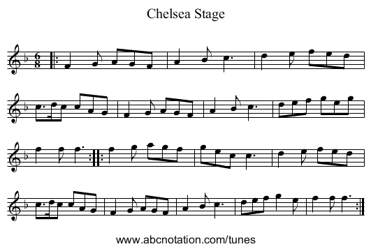 Chelsea Stage - staff notation