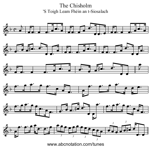 Chisholm, The - staff notation