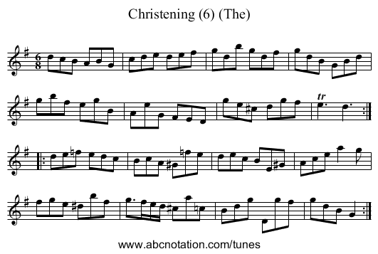 Christening (6) (The) - staff notation