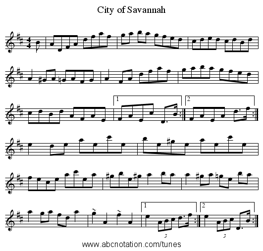 City of Savannah - staff notation