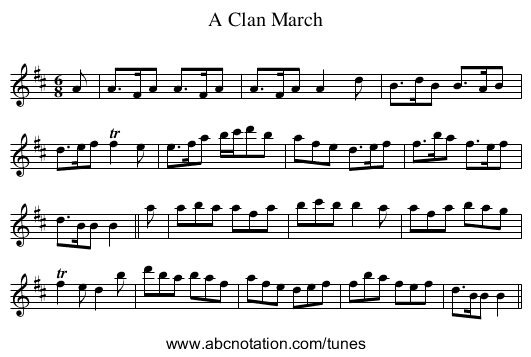 Clan March, A - staff notation