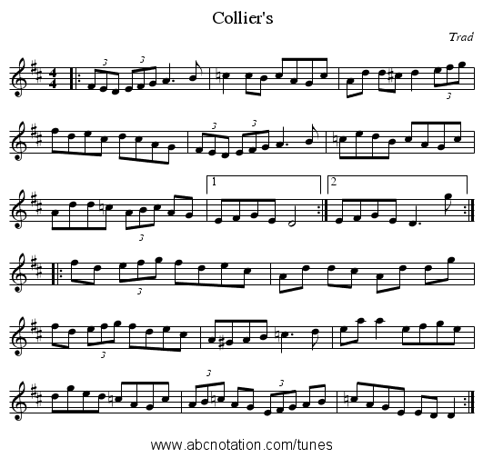 Collier's - staff notation