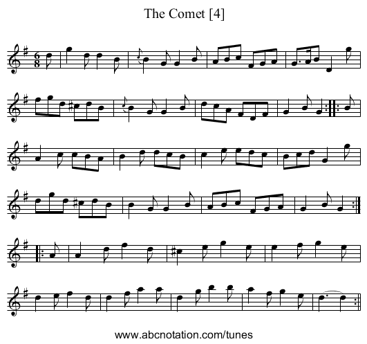 Comet [4], The - staff notation