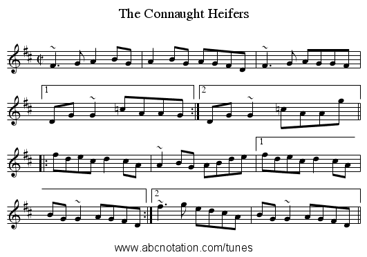 Connaught Heifers, The - staff notation
