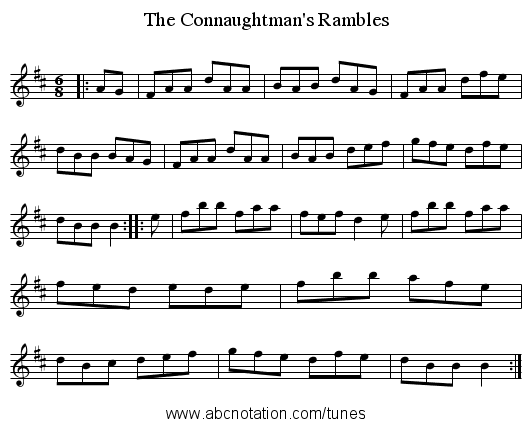 Connaughtman's Rambles, The - staff notation