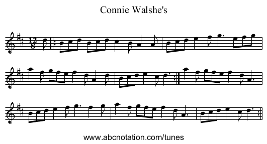 Connie Walshe's - staff notation