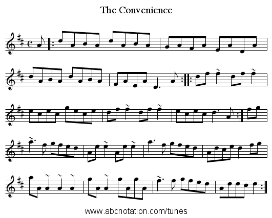 Convenience, The - staff notation