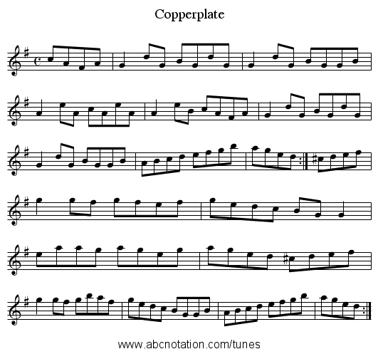 Copperplate - staff notation