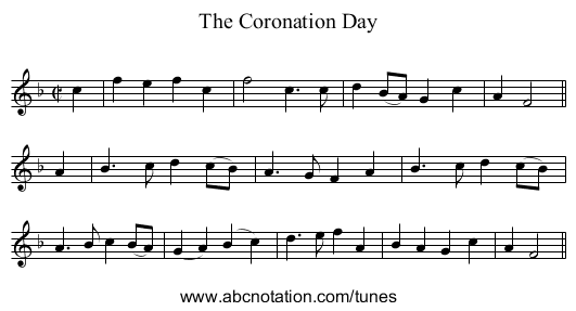 Coronation Day, The - staff notation