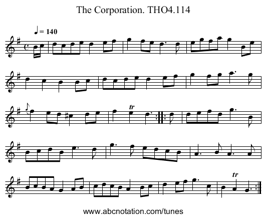 Corporation. THO4.114, The - staff notation
