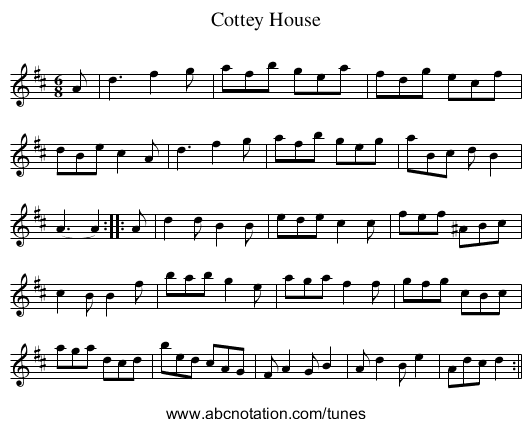Cottey House - staff notation