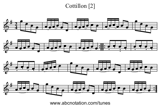 Cottillon [2] - staff notation