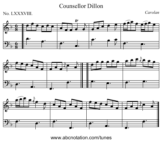Counsellor Dillon - staff notation