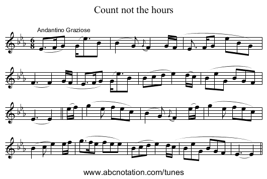 Count Not the Hours - staff notation