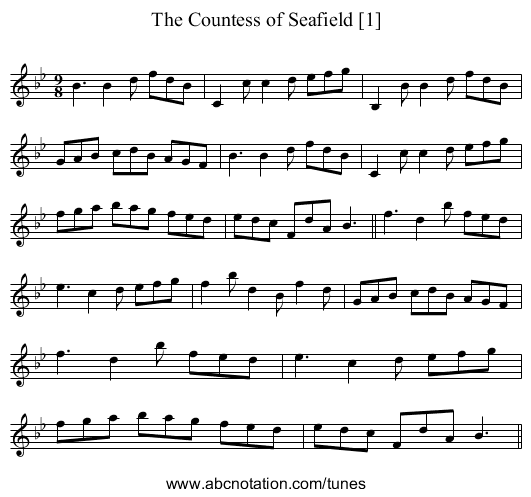 Countess of Seafield [1], The - staff notation
