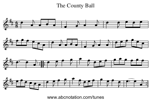 County Ball, The - staff notation