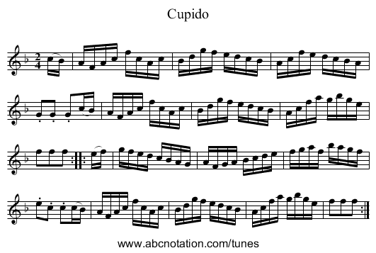 Cupido - staff notation