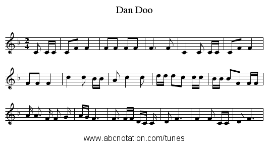 Dan Doo - staff notation