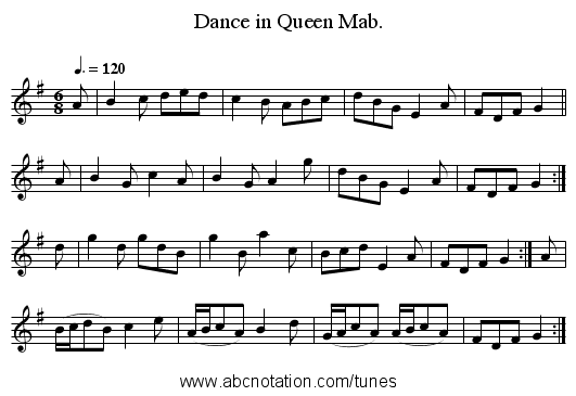 Dance in Queen Mab. - staff notation