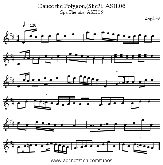 Dance the Polygon,(She?). ASH.06 - staff notation