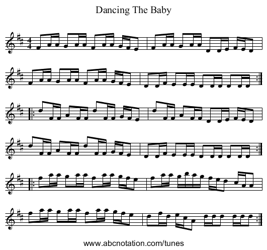 Dancing The Baby - staff notation