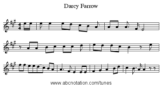 Darcy Farrow - staff notation