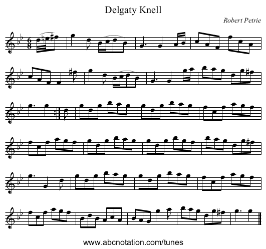 Delgaty Knell - staff notation