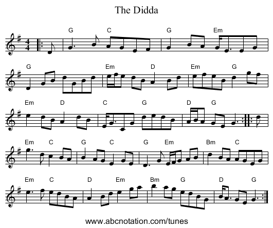 Didda, The - staff notation