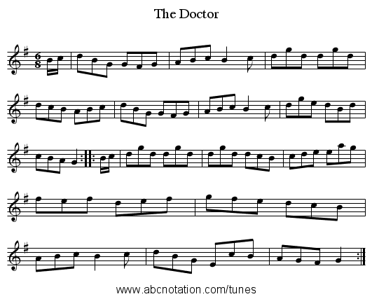 Doctor, The - staff notation