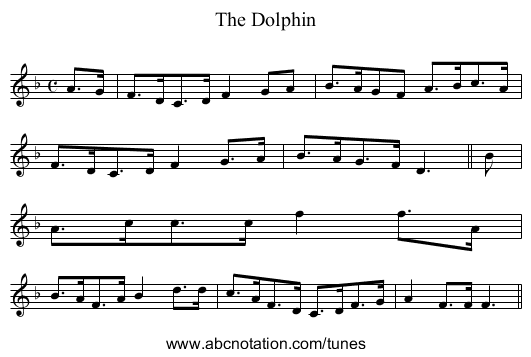 Dolphin, The - staff notation