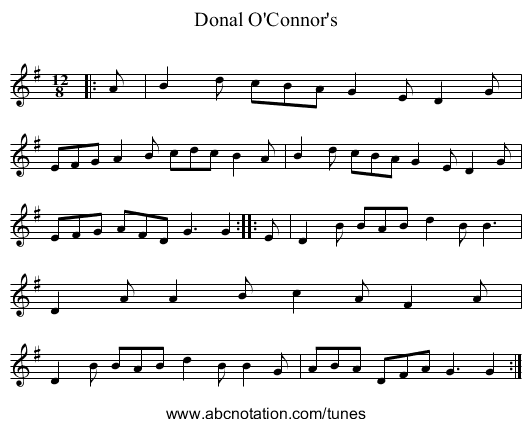 Donal O'Connor's - staff notation